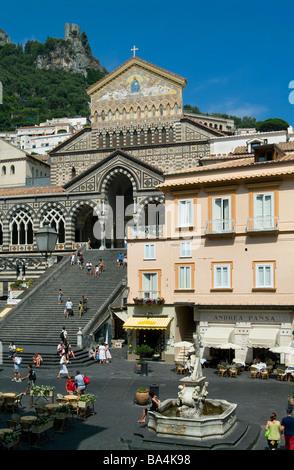 Cathedral of Saint Andrea, Amalfi, Salerno, Campania, Italy - Stock Photo
