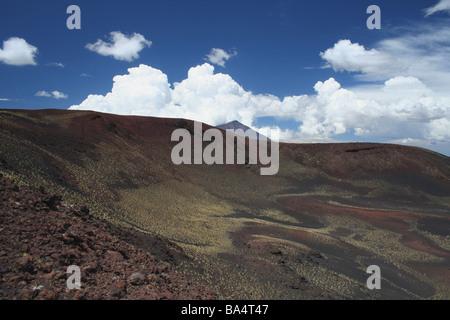Volcanic landscape at Parque Provincial Payunia - Stock Photo