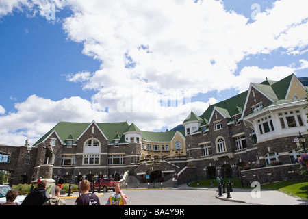 Exterior of Banff Springs Hotel in Canada - Stock Photo
