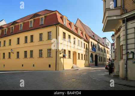 Händel museum and house of Händel's birth in Halle (Saale), Germany - Stock Photo