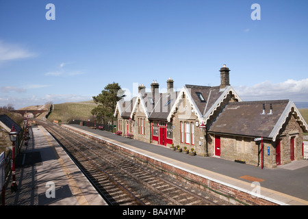 Kirkby Stephen Upper Eden Valley Cumbria England UK Britain Old train station on Settle to Carlisle scenic railway - Stock Photo