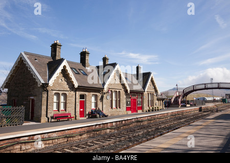 Kirkby Stephen Upper Eden Valley Cumbria England UK Europe Old train station on Settle to Carlisle railway line - Stock Photo