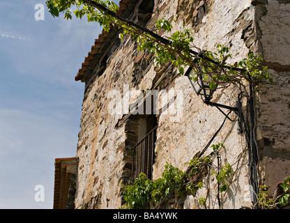 Stone house in Patones de Arriba - Stock Photo