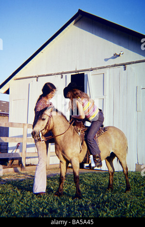 Mounting Pony - Stock Photo