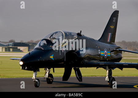 A Hawk jet trainer operated by the United Kingdoms Royal Navy - Stock Photo