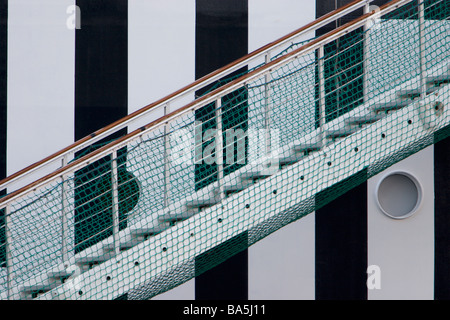 Big ferry accomodation ladder. - Stock Photo