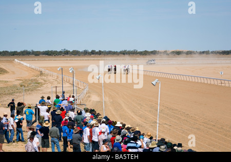 Birdsville races.  Birdsville, Queensland, AUSTRALIA - Stock Photo