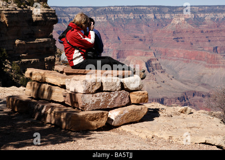 stone altar near bright angel lodge south rim grand canyon national park arizona usa - Stock Photo