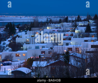 Apartments, Kopavogur, Suburb of Reykjavik, Iceland - Stock Photo