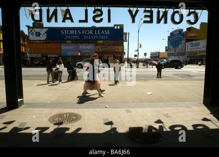 The entrance to the Stillwell Avenue subway terminal in Coney Island in New York on Sunday April 5 2009 Richard - Stock Photo