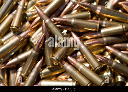 12 April 2009 Frederick Maryland Small caliber rifle ammunition An ammunition shortage has hit the United States - Stock Photo