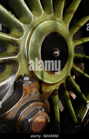driving wheel of 'Stepney' Terrier tank engine at Bluebell Railway Sussex - Stock Photo