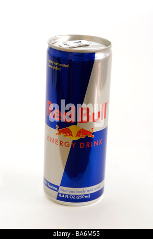 A can of Red Bull energy drink - Stock Photo