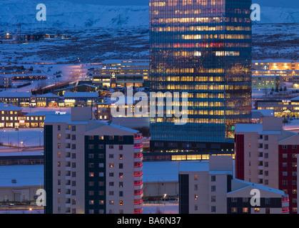 Kopavogur, suburb of Reykjavik, Iceland - Stock Photo