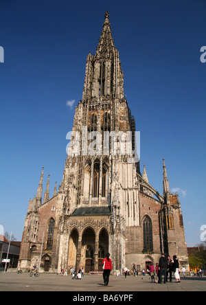 Ulm Cathedral, the tallest church in the world - Stock Photo