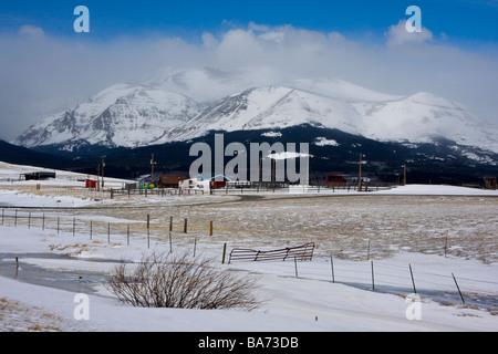 Montana Ranch near Glacier National Park, Montana - Stock Photo