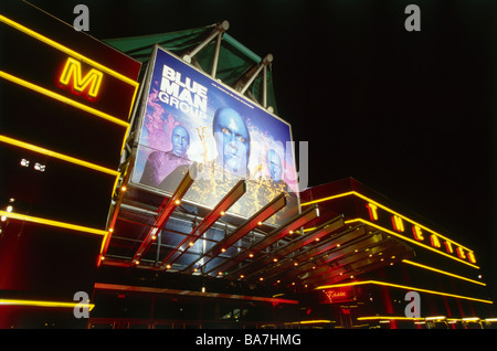 Blue Man Group, Metronom Theater, Oberhausen, Ruhr Valley, Ruhr, North Rhine Westphalia, Germany - Stock Photo