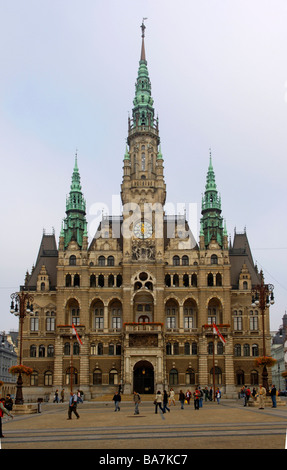 Town hall, Liberec, Czech Republic - Stock Photo