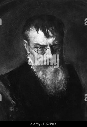 Lenbach, Franz von, 13.12.1836 - 6.5.1904, German painter, portrait, , Additional-Rights-Clearances-NA - Stock Photo