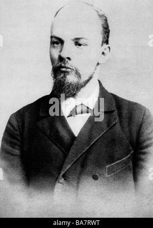 Lenin (Vladimir Ilyich Ulyanov), 22.4.1870 - 21.1.1924, Russian politician, portrait, February 1897, - Stock Photo