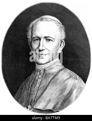 Leo XIII (Vincenzo Gioacchino Count Pecci), 2.3.1810 -  , Additional-Rights-Clearances-NA - Stock Photo