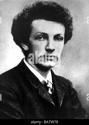 Strauss, Richard, 11.6.1864 - 8.9.1949, German composer, portrait, as young man, photo, 1888, Additional-Rights - Stock Photo
