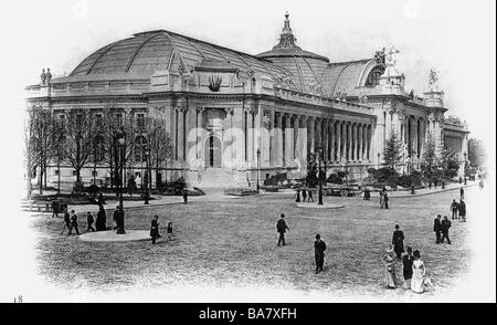 exhibitions, world exposition, Expostion Universelle, Paris, 15.4.1900 - 12.11.1900, Grand Palais, exterior view, - Stock Photo