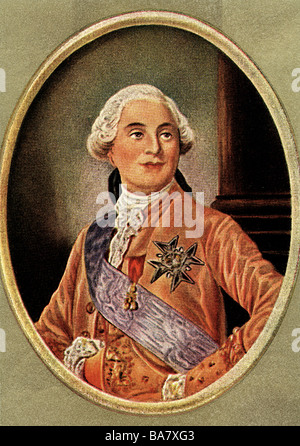 Louis XVI, 23.8.1754 - 21.1.1793, King of France 10.5.1774 - 21.9.1792, portrait, print after miniature, 18th century, - Stock Photo