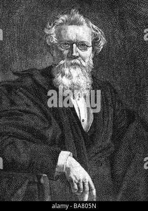 Hofmann, August Wilhelm, 8.4.1818 - 5.5.1892, German scientist (chemist), half length, wood engraving after painting - Stock Photo