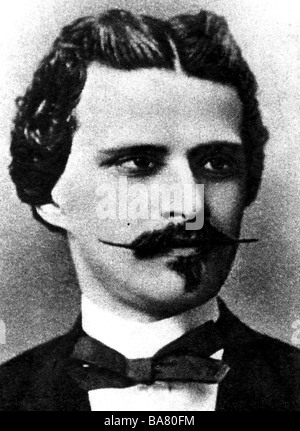 Strauss, Johann II (the Younger), 25.10.1825 - 3.6.1899, Austrian composer, portrait, as young man, after photo, - Stock Photo