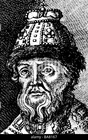 Boris Godunov, 1552 - 13.4.1605, emperor of Russia from 1591, portrait, copper engraving, 17th century, Artist's - Stock Photo