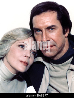 SPACE 1999 UK TV series with Martin Landau and Barbara Bain - Stock Photo