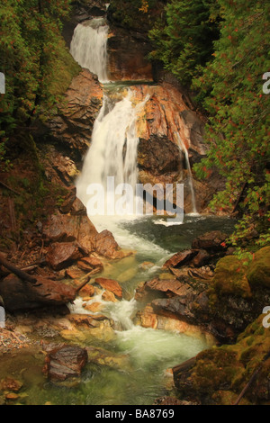 Falls on Crazy Creek, British Columbia - Stock Photo