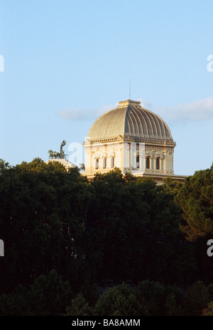 Vault of the Sinagoga nuova in Rome, Italy - Stock Photo