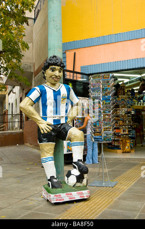 Football player sculpture in Buenos Aires - Stock Photo