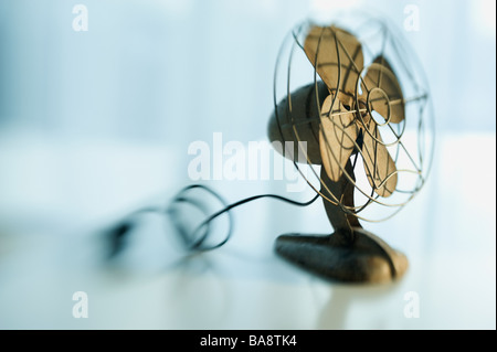 Close up of antique fan - Stock Photo