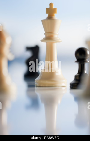 Close up of chess pieces - Stock Photo