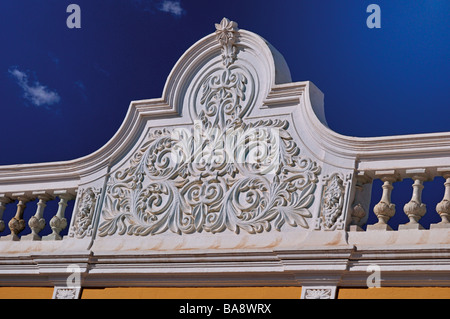 Portugal, Algarve: Architectonical detail of typical algarvian house in Castro Marim - Stock Photo