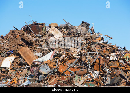 Metal recycling pile - Stock Photo