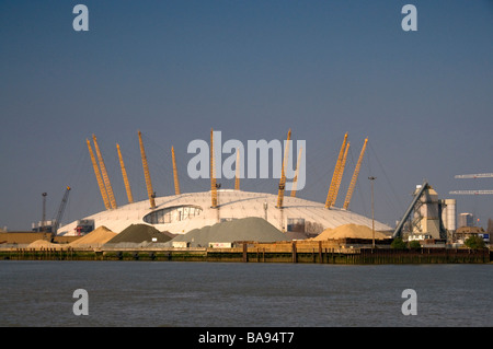 Millenium Dome, O2 Arena, at Docklands in London - Stock Photo
