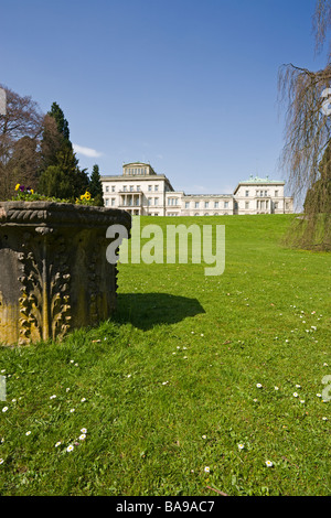 Park at Villa Huegel in Essen, former residence of the industrial magnates family Krupp, North Rhine-Westphalia, - Stock Photo