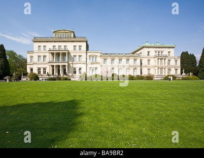 Villa Huegel in Essen, former residence of the industrial magnates family Krupp, Ruhr area, North Rhine-Westphalia, - Stock Photo