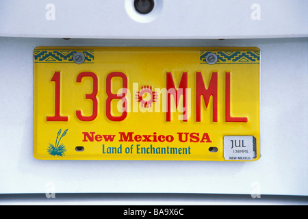 Yellow Car With Mexico License Plate Texas License Plate