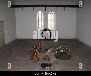 Execution chamber in Ploetzensee prison memorial to Nazi victims, Berlin - Stock Photo
