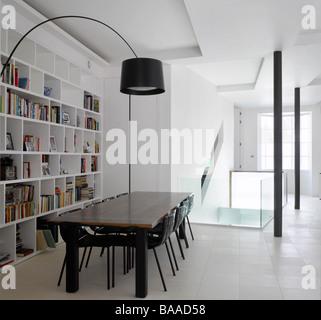 Dining Room in Loft Apartment, Islington, London, UK. - Stock Photo