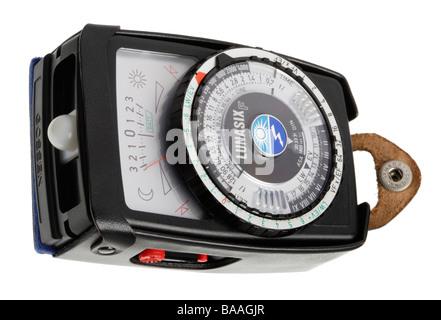 Light meter for measuring strength of light - Stock Photo