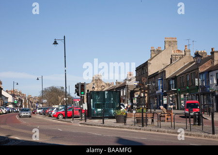 Barnard Castle Teesdale County Durham England UK Europe Galgate wide main street in market town centre - Stock Photo