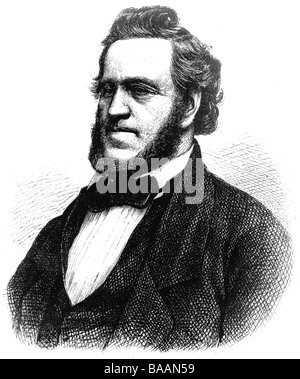 Young, Brigham, 1.6.1801 - 29.8.1877, 2nd President and prophet of Church of Jesus Christ of Latter-day (Mormon), - Stock Photo