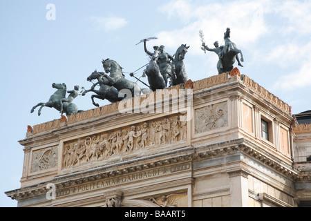 Teatro Politeama Garibaldi, Politeama Theater, Palermo, Sicily, Italy - Stock Photo