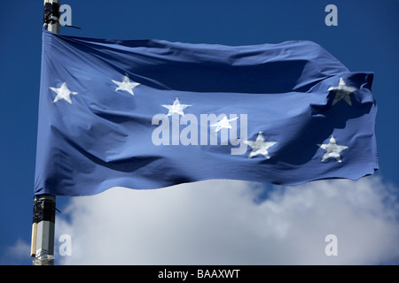 The starry plough flag flying originally used by the Irish Citizen Army but later by the Irish National Liberation - Stock Photo